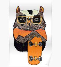 Suzi Owl Skater Poster