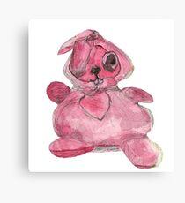 My Pink Rabbit toy Canvas Print