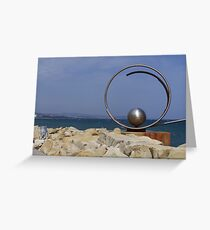 Steel sculpture.  Greeting Card