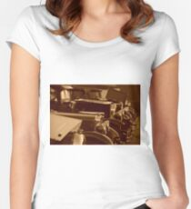 vintage cars Women's Fitted Scoop T-Shirt