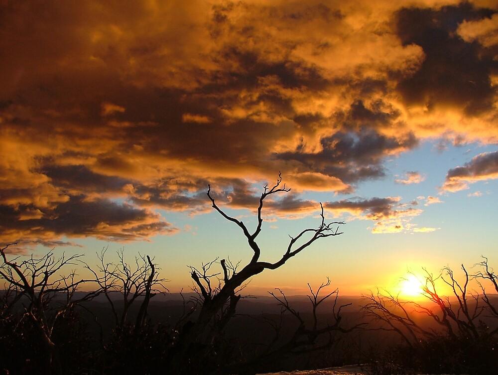Sunset over Mount Feathertop by Matthew Owen