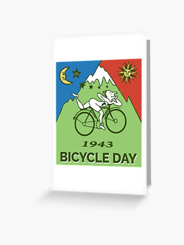 8022a98f3d1 Bicycle Day T-shirt - 1943 Vintage (Albert Hofmann LSD) | Greeting Card