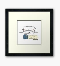 You're only given one little spark of madness...  / Cat doodle Framed Print