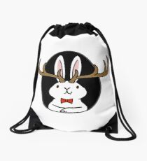 Hello Jackalope! Drawstring Bag