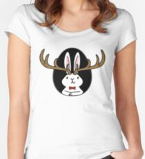 Hello Jackalope! Women's Fitted Scoop T-Shirt