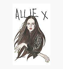TOTAL FXCKING DARKNESS - Allie X Photographic Print