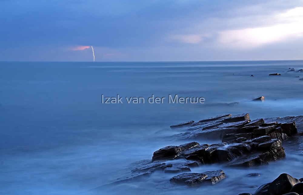 Storm approaching the East Coast of South Africa. by Izak van der Merwe
