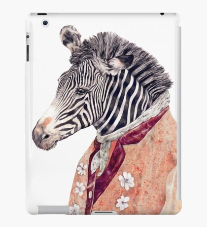 Zebra Cream iPad Case/Skin