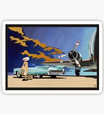Vintage Travel  Cadillac classic car Sticker