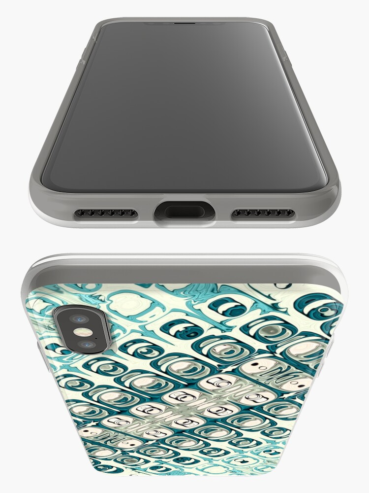 Alternate view of Turquoise Tile Pattern iPhone Cases & Covers