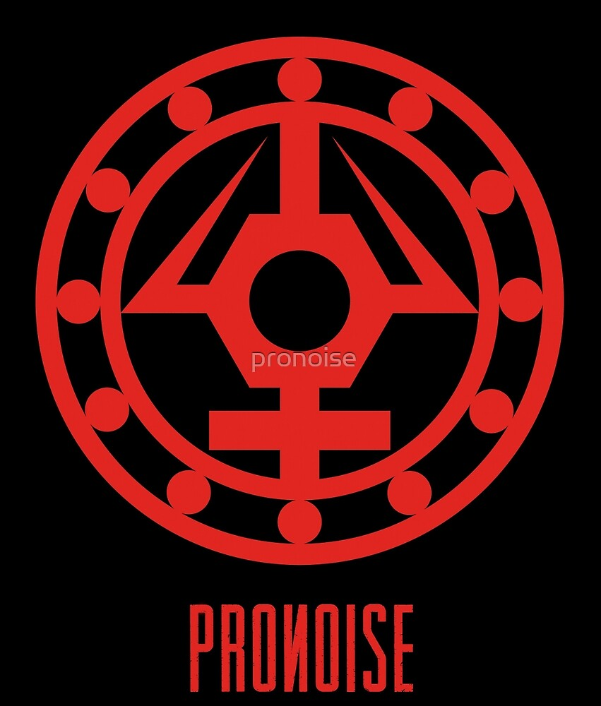PRONOISE - RED / RED - Original Logo + Name by pronoise