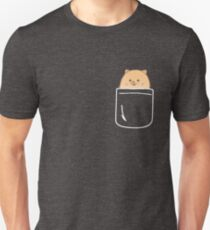 Pomeranian In Your Pocket Funny Puppy Emoji T-Shirt