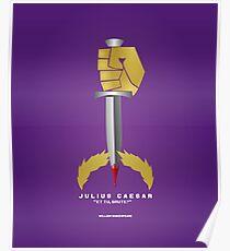 Literarische Klassiker-Illustration Reihe: Julius Caesar Poster