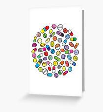 Drugs n Pills Greeting Card