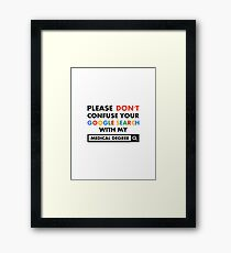 Medical Degree Framed Print