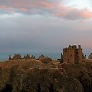 Rainbow by Dunnottar Castle in Panorama by Maria Gaellman