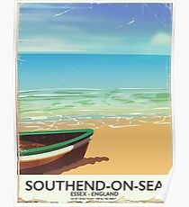 Southend-on-Sea, England vintage travel poster Poster