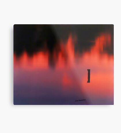 Sunset Reflected in a Pond Metal Print