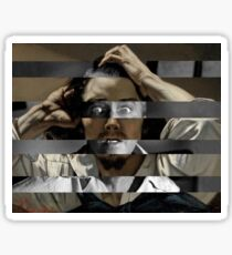 "Gustave Courbet ""The Desperate Man"" Self Portrait & James Stewart in Vertigo Sticker"