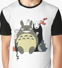 Studio Ghibli: Totoro, Jiji, Calcifer, Forest Spirit, Ponyo, Rat, Fly, Soot Sprite (customisable) Graphic T-Shirt