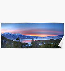 Lake Dillon East Sunset Panorama Poster