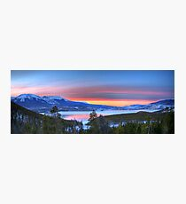 Lake Dillon East Sunset Panorama Photographic Print
