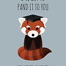 A Red Panda Graduation by petegrev