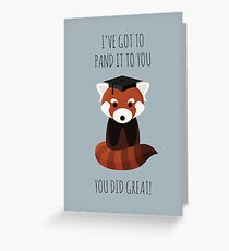 A Red Panda Graduation Greeting Card