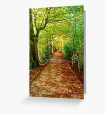 Scattered Leaves .. Greeting Card