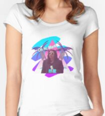 Vaporwave The Room  Women's Fitted Scoop T-Shirt