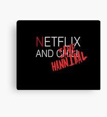 Netflix and ch-SAVE HANNIBAL Canvas Print