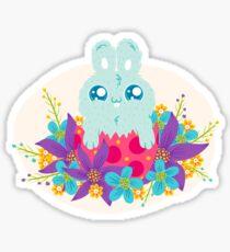 Easter bunny in flowers Sticker