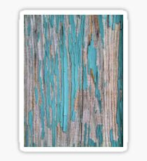Shabby rustic weathered wood turquoise Sticker