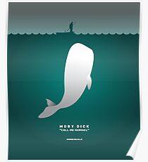 Literarische Klassiker-Illustration Reihe: Moby Dick Poster