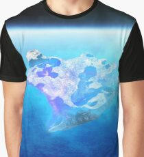 burning blue fire meteorite falling to earth Graphic T-Shirt