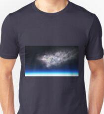 burning meteorite falling to planet Unisex T-Shirt