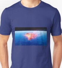 burning red fire meteorite falling to earth Unisex T-Shirt