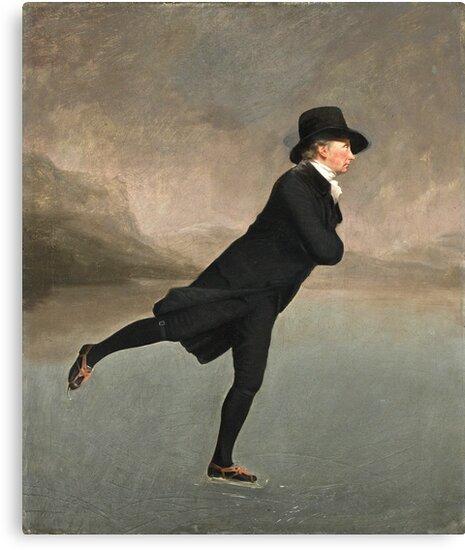 Henry Raeburn - Reverend Dr Robert Walker (1755 - 1808) Skating On Duddingston Loch by artcenter