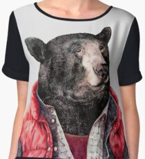Black Bear Women's Chiffon Top