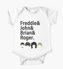Queen, Freddie & John & Brian & Roger hair One Piece - Short Sleeve