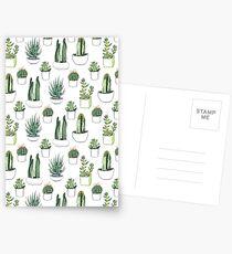 Aquarellkakteen und Sukkulenten Postkarten