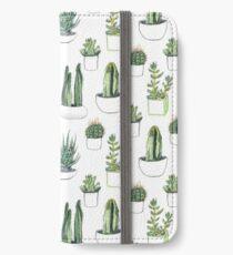 Watercolour cacti & succulents iPhone Wallet/Case/Skin
