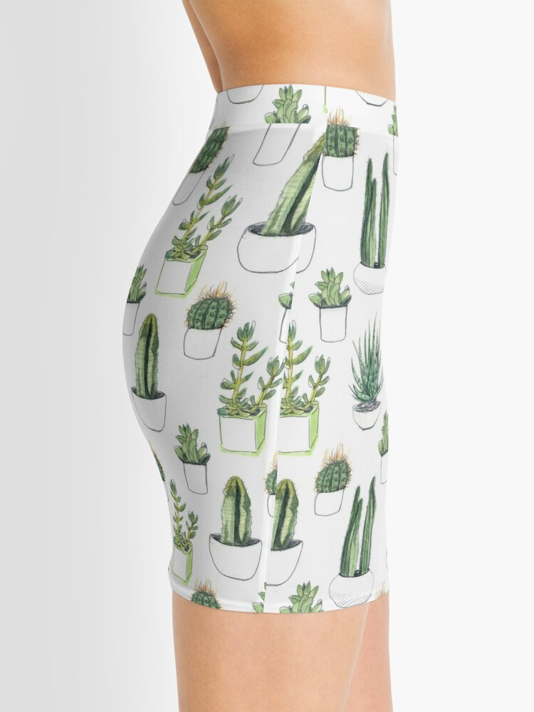 Alternate view of Watercolour cacti & succulents Mini Skirt