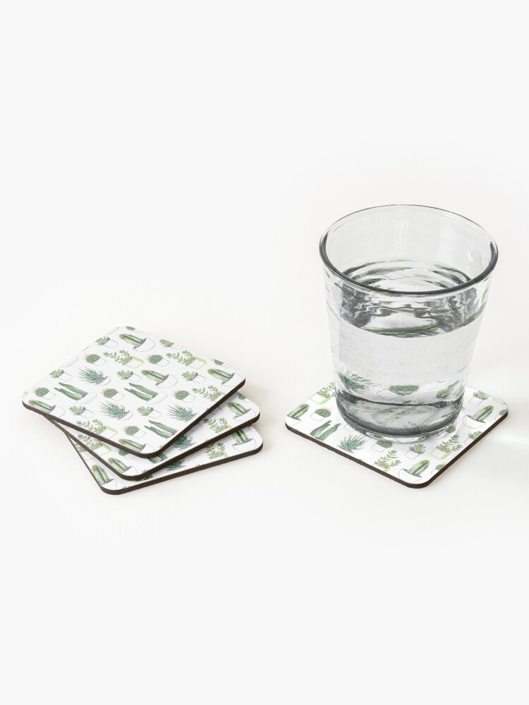Alternate view of Watercolour cacti & succulents Coasters (Set of 4)
