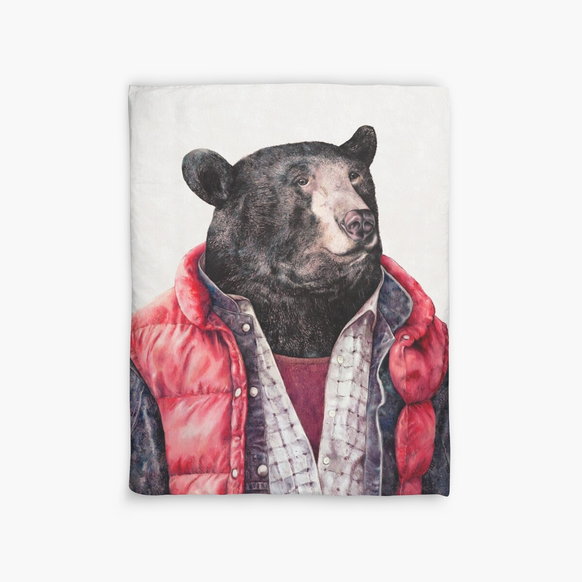 Quot Black Bear Quot Duvet Covers By Animalcrew Redbubble