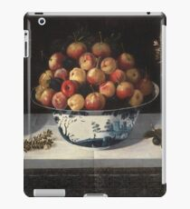 Hiepes, Tomas - Delft Fruit Bowl And Two Vases Of Flowers iPad Case/Skin