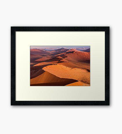 The Namibian Sand Sea Framed Print