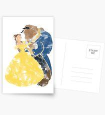 Aquarell Grunge der Schönheit und des Biests (mit Transparenz) Postkarten