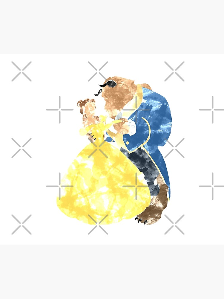 Watercolour Grunge of Beauty and The Beast (with transparency) by fishercraft