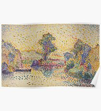 Hippolyt Petitjean - Boat On A Pond Poster
